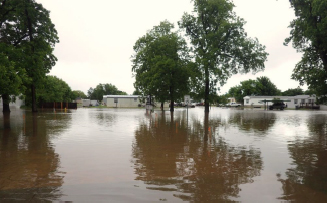 The Southtown South neighborhood in Bixby, Oklahoma experienced severe flooding.